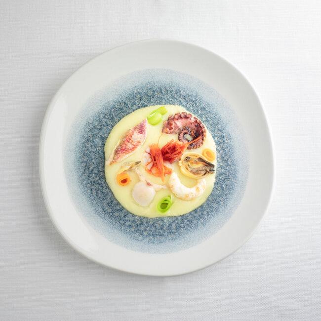 Piatto di insalata di mare tiepida dell'Osteria Il Moro Trapani