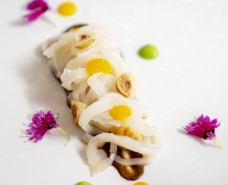 Piatto di tagliatella di calamaro dell'Osteria Il Moro Trapani