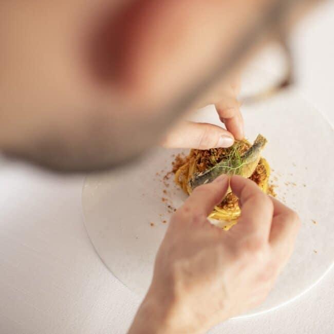 Chef Nicola Bandi dell'Osteria Il Moro Trapani