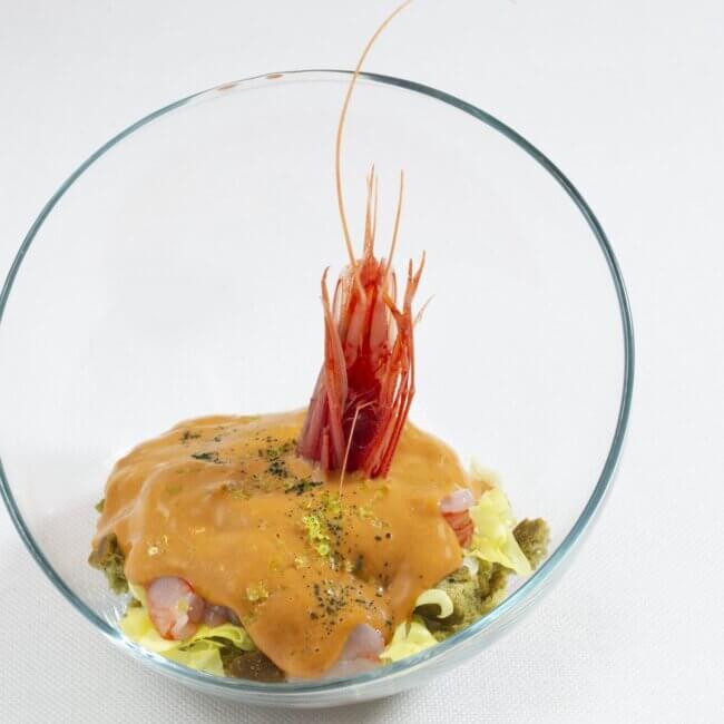 Cocktail di gamberi 02 dell'Osteria Il Moro Trapani